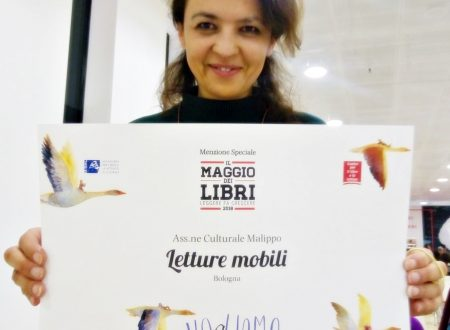 """A Malippo la menzione speciale per la campagna nazionale di promozione della lettura """"Il Maggio dei Libri"""""""